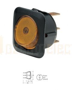 Narva 62051BL Illuminated Off/On Rocker Switch (Amber)
