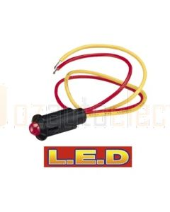Narva 62076BL 12 Volt Alarm Pilot Lamp. Pre-wired with Flashing Red L.E.D