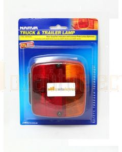 Narva 86460BL Rear Stop / Tail, Direction Indicator Lamp with Licence Plate Option - Blister Pack