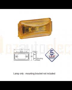 Narva 91550 12 Volt Amber L.E.D External Cabin Lamp