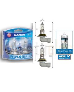 Narva 48534BL2 Halogen HB4 Globe 12V 51W Blue Plus 110 P22d (Blister Pack of 2)