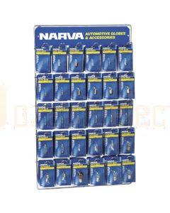 Narva Premium 12 Volt 'Full Range' Blistered Automotive Globe Merchandiser