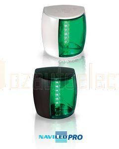 Hella 2LT959908001 2NM Starboard Lamp, Black Shroud, Coloured Lens
