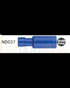 Quikcrimp NDC37 Blue Double Crimp Nylon Female Bullet Terminals - Pack of 100. (5mm)