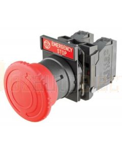 Emergency Stop Switch No Housing - Latching, turn to release