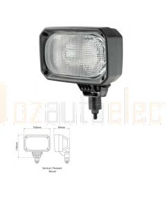 Nordic Lights 100157 N100 24V Single Beam Heavy Duty Halogen with Amp Connector- Wide Flood Work Lamp