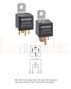 Narva 68020BL 24V 50 Amp 4 Pin Normal Open Relay