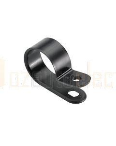 Narva 56587 Plastic Nylon Black Cable Clamps (P-Clips) - 19mm (Pack of 100)