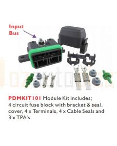 Prolec PDMKIT101 LIttelfuse MTR Series Fused 4 Way Sealed Distribution Module Kit