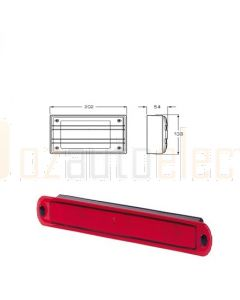 Hella Matrix LED Stop/ Rear Position Lamp - Red, 12V DC (2334)