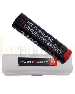 Powa Beam BAT-S34 18650 3400mah Rechargeable Torch Battery