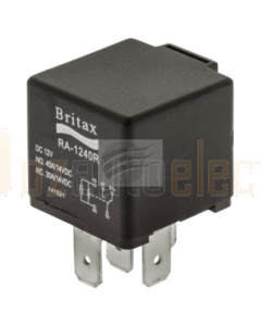 Britax C/over Mini Relay 12V 40/40amp 5 Pin 30 & 86 Reversed