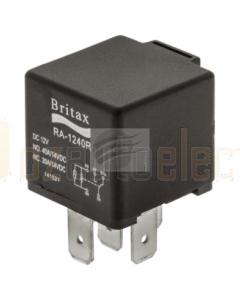 Britax C/over Mini Relay 12V 40/40amp 5 Pin n/o Resistor Type