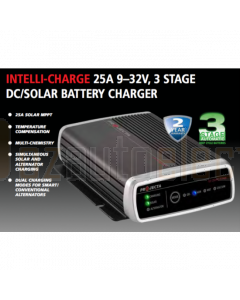 Projecta IDC25 9-32V 25A 3 Stage DC to DC Battery Charger with Solar Input