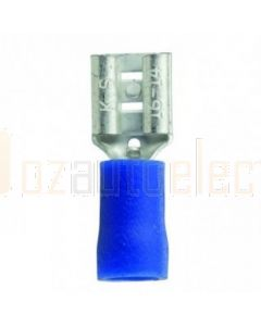 Quikcrimp QKC32 Blue Vinyl 6.3mm Female Blade Terminal