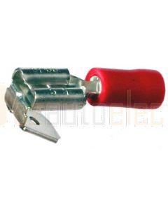 Quikcrimp QKC15 Piggyback/ Adaptor Terminal 6.3mm Red Vinyl