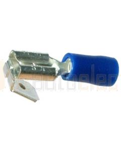 Quikcrimp Blue 6.3mm Piggyback/ Adaptor Terminal 100 Pack