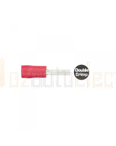 Quikcrimp QKC63 Red Flat Blade Male Terminal 2.3mm x10mm Pack of 100