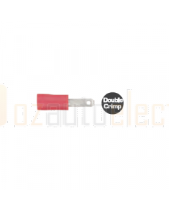 Quikcrimp QKC68 Red Vinyl 2.8mm Male Blade Terminal Pack of 100