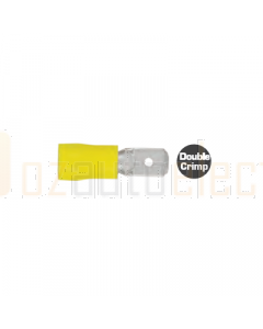 Quikcrimp QKC87 Male Terminal Yellow 6.3mm 100 Pack