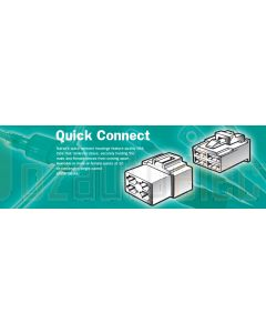 Narva 56253 3 Way Quick Connector Housing with Terminals - Male (Pack of 10)