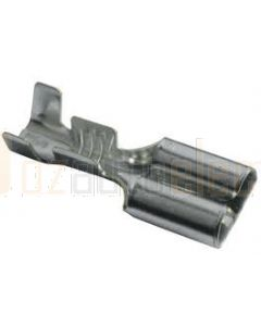 Quikcrimp 604502BL2 Non Insulated Female Blade Crimp Terminals - QK Series, Tin Plated Brass 6.3mm Tab, 0.8-1.5mm2 wire size