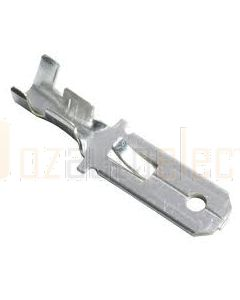 Quickcrimp Non Insulated Male Crimp Terminals - Tin Plated Brass, 6.3mm Tab, 0.8-1.5mm2 wire size