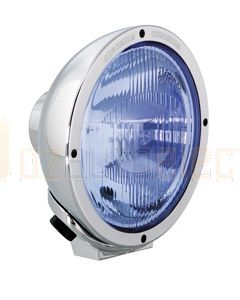 Hella Rallye FF 4000 Series Driving Light - Chrome Spread Beam, Blue (1376BLUE)