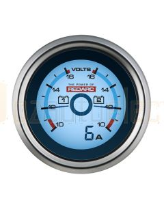 Redarc G52-VVA Dual Voltage Gauge with Optional Current Display
