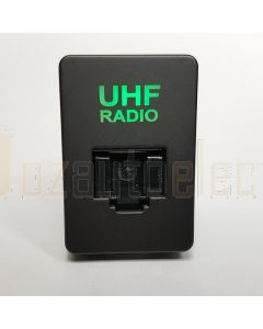 Lightforce Vertical RJ45 Pass Through Connector - Green (inc Hilux/Prado/Ranger PXII)