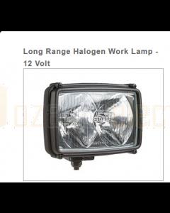 Hella Long Range Halogen Work Lamp - 12 Volt
