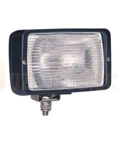 Hella Halogen 7118 Series Floodlights (12V Black - Structured Lens)