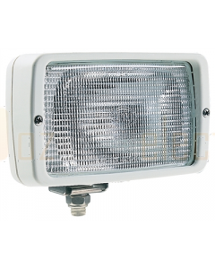 Hella Halogen 7118 Series Floodlights (12V Ice White - Structured Lens)