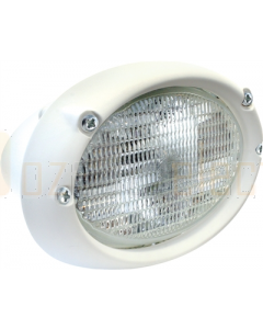 Hella 1GA996361401 Halogen Oval 100 Deck Floodlight Flush Mount (24V DC, White Housing)