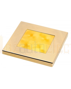 Hella Amber LED Square Courtesy Lamp (24V DC, Gold Plated Rim)