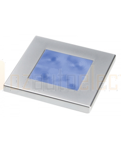 Hella Blue LED Square Courtesy Lamp (12V Satin chrome plated rim)