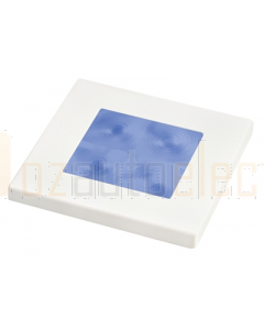 Hella Blue LED Square Courtesy Lamp (12V White plastic rim)