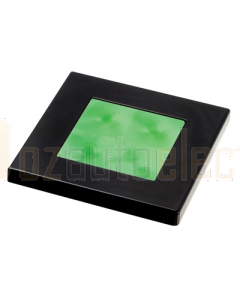 Hella Green LED Square Courtesy Lamp (12V DC, Black Plastic Rim)