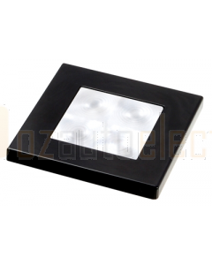 Hella White LED 'Enhanced Brightness' Square Courtesy Lamp (12V DC, Black Plastic Rim)