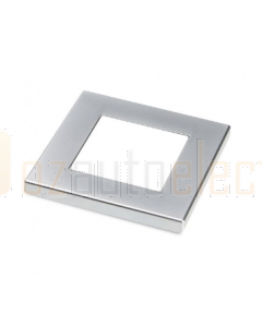 Hella Square Rim - Suit LED Square Courtesy Lamp Satin Chrome Plated Plastic