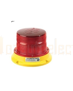 Hella Beacon Magnetic Mount LED Rotating/Flash Red UltraRAY Twin