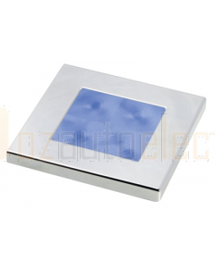 Hella Blue LED Square Courtesy Lamp (12V Chrome plated rim)
