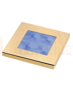 Hella Blue LED Square Courtesy Lamp (12V Gold plated rim)