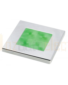 Hella Green LED Square Courtesy Lamp (12V DC, Chrome Plated Rim)