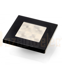 Hella Warm white LED 'Enhanced Brightness' Square Courtesy Lamp (24V DC, Black Plastic Rim)
