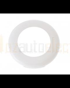 Hella Round Rim - White Plastic - EuroLED 75