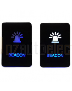 Momentary Negative Polarity Switch, Beacon - WH/BL LED (inc Hilux/Prado/Ranger PXII)
