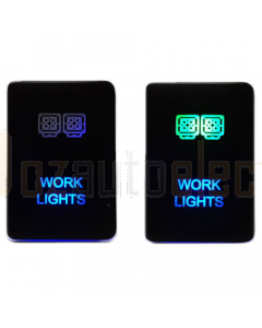 Lightforce CBSWTY2HW LED Switch with Work Light Symbol