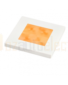 Hella Square LED Courtesy Lamp, Orange, 24V DC