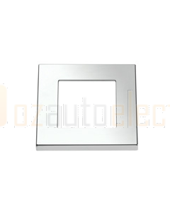 Hella 98058501 Square Courtesy Chrome Plated Plastic Rim